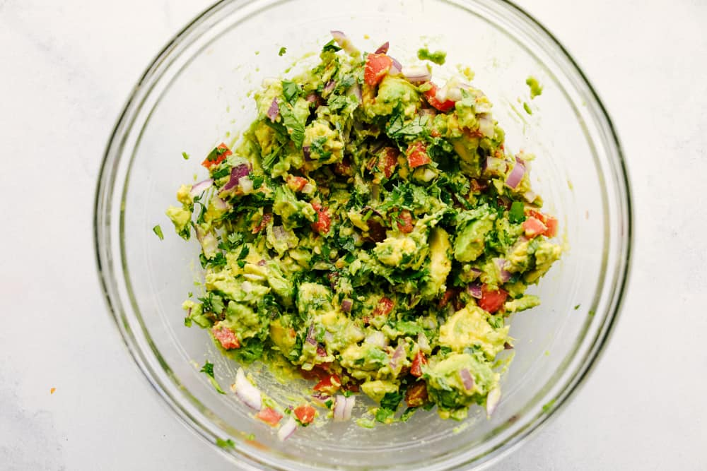 Avocado mixture in a bowl.