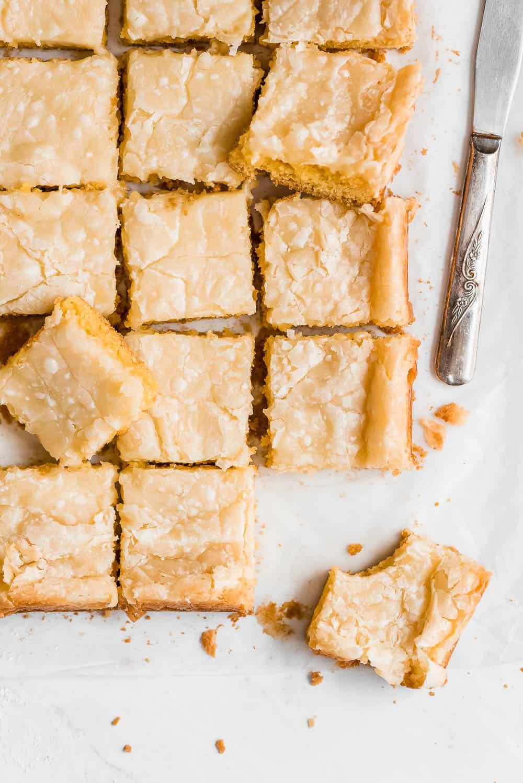 Neiman marcus bars cut into squares.