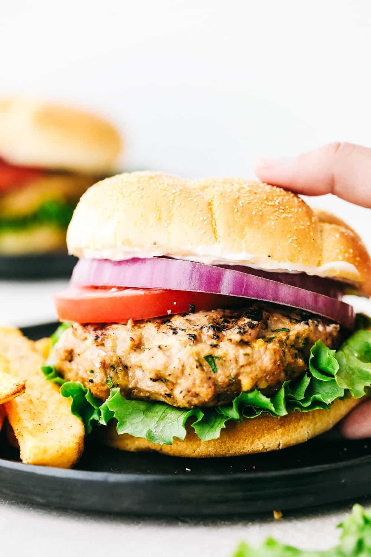 Juicy Grilled Garlic Turkey Burgers Recipe The Recipe Critic