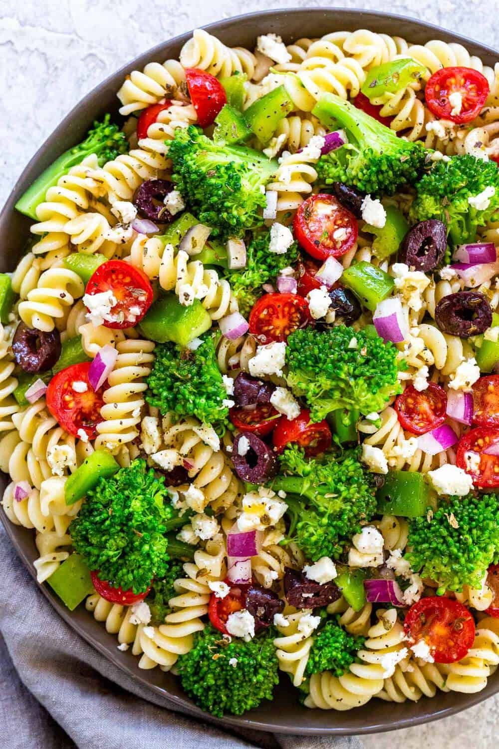 Greek Broccoli Pasta Salad The Recipe Critic