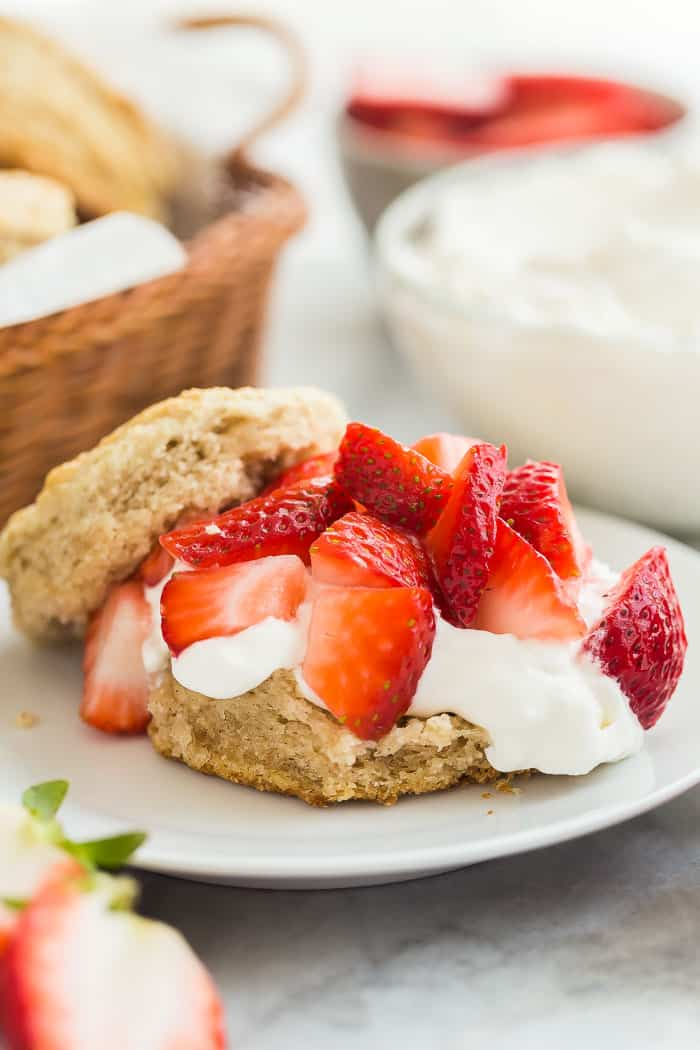 strawberry shortcake recipe close up