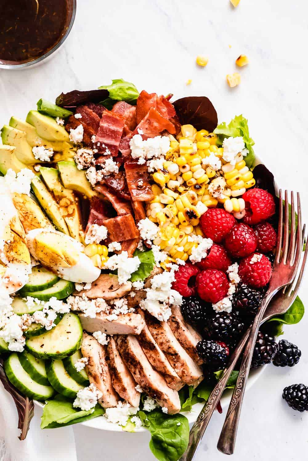 Summer Cobb Salad on a plate.