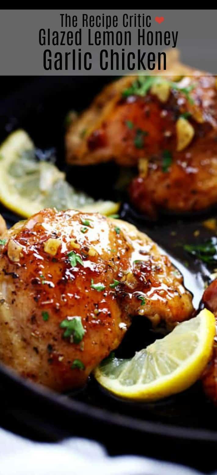 Glazed Lemon Honey Garlic Chicken