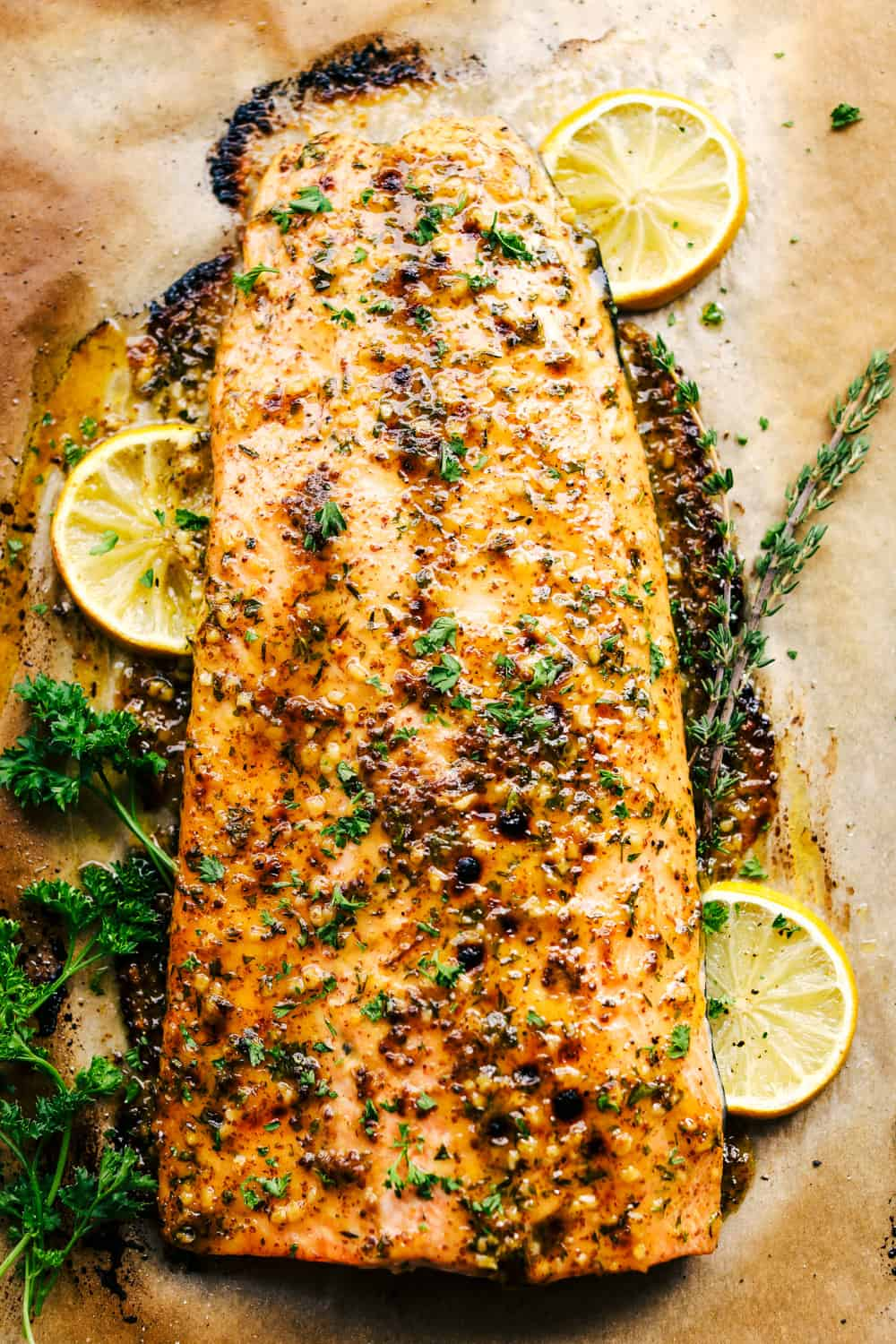 honey garlic dijon broiled salmon