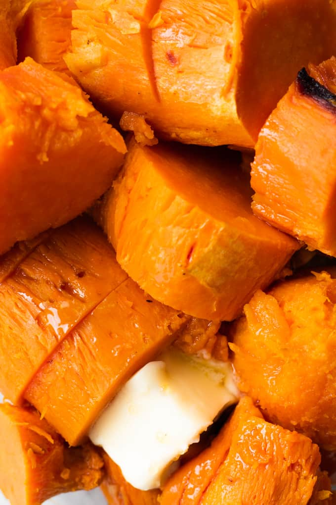 sweet potatoes cooked with butter