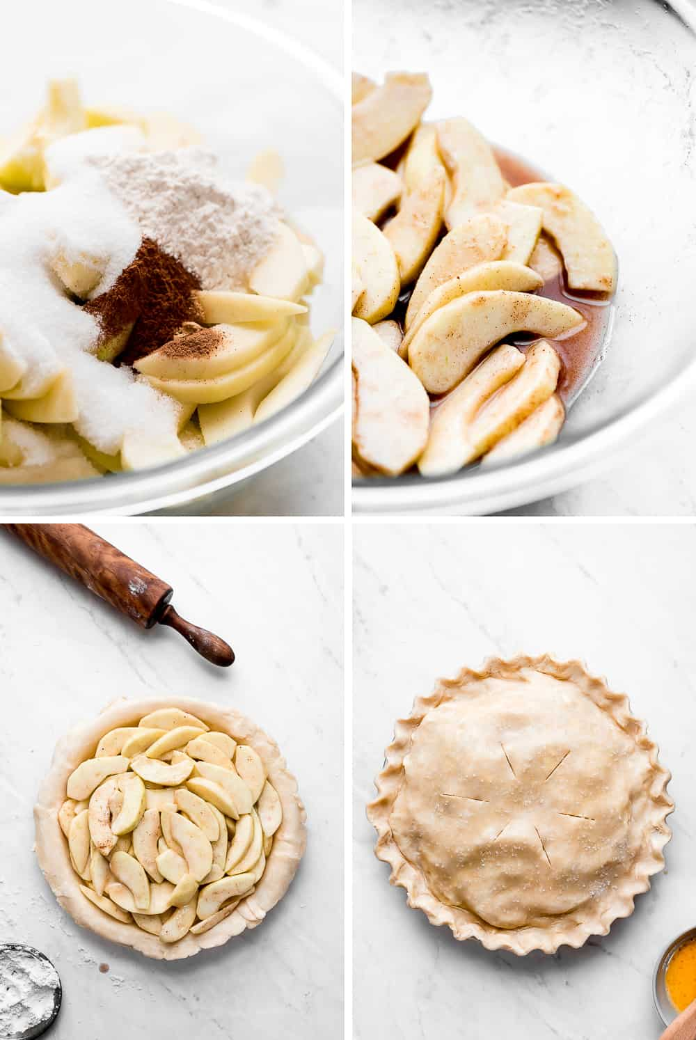 Apple pie making