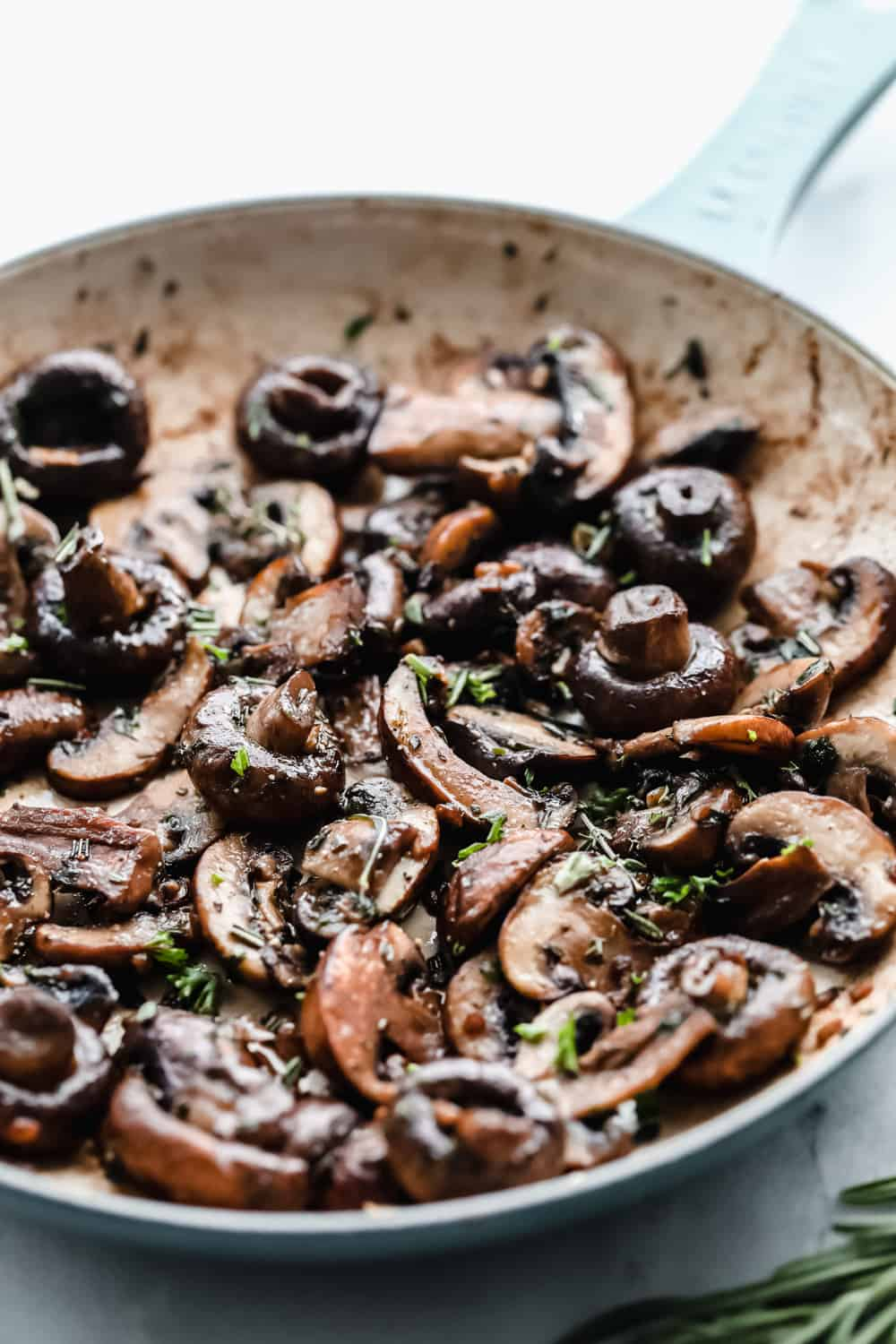 buttery herb sautéed mushrooms