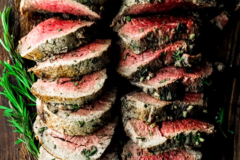 roasted garlic herb butter beef tenderloin