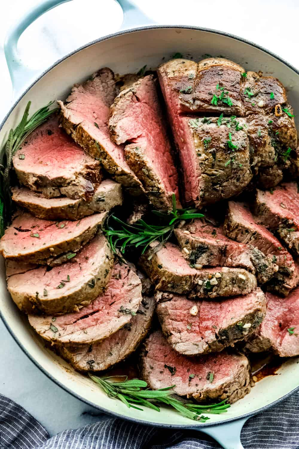 garlic herb butter beef tenderloin