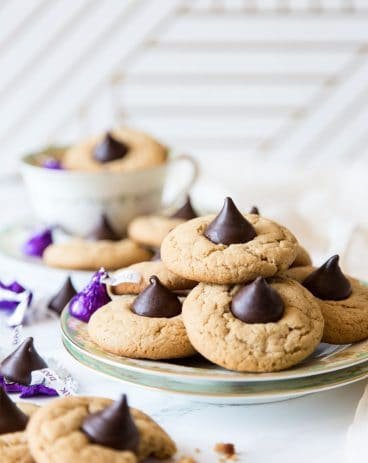 Peanut Butter Blossom Cookies on a plate