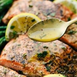 Brown Butter Lemon Salmon, Wustoo
