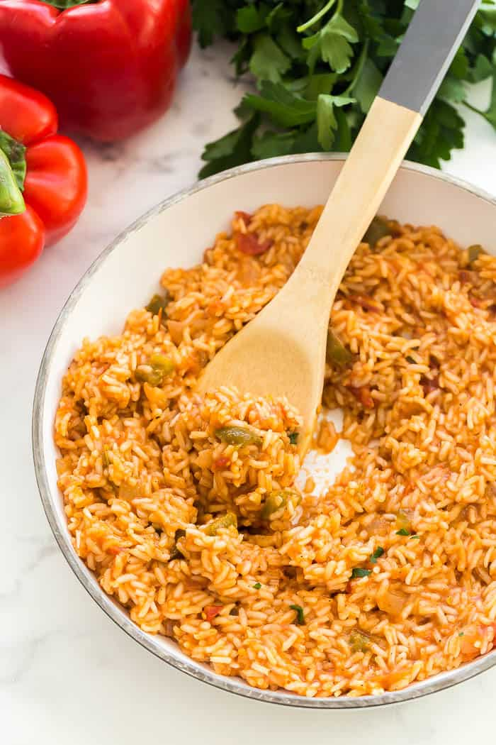 mexican rice scoop