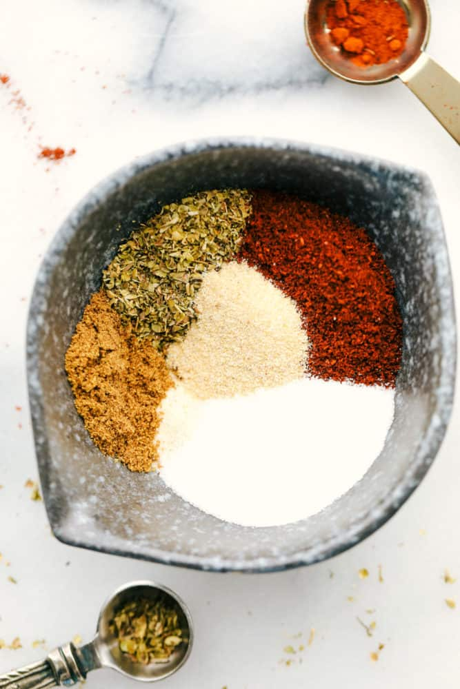 Seasonings in one bowl.