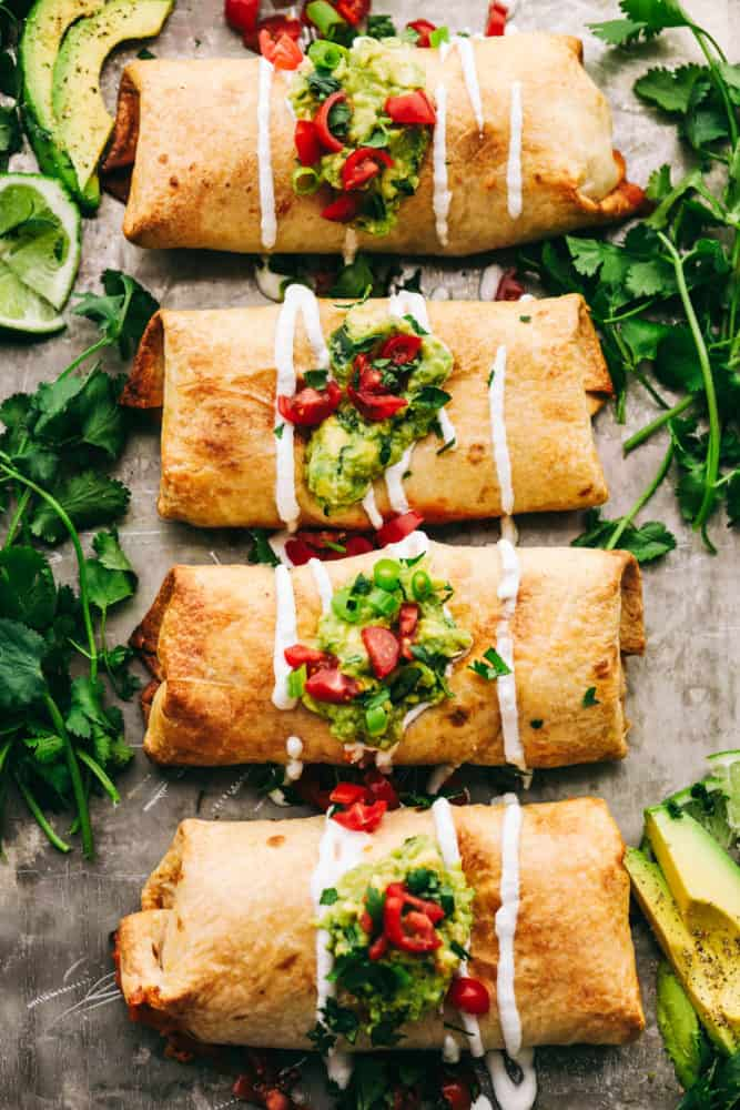 Homemade Chicken Chimichangas- copyrighted image