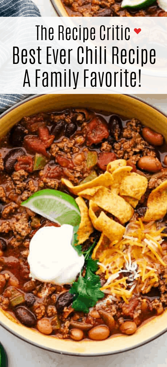 Best Ever Chili Recipe The Recipe Critic