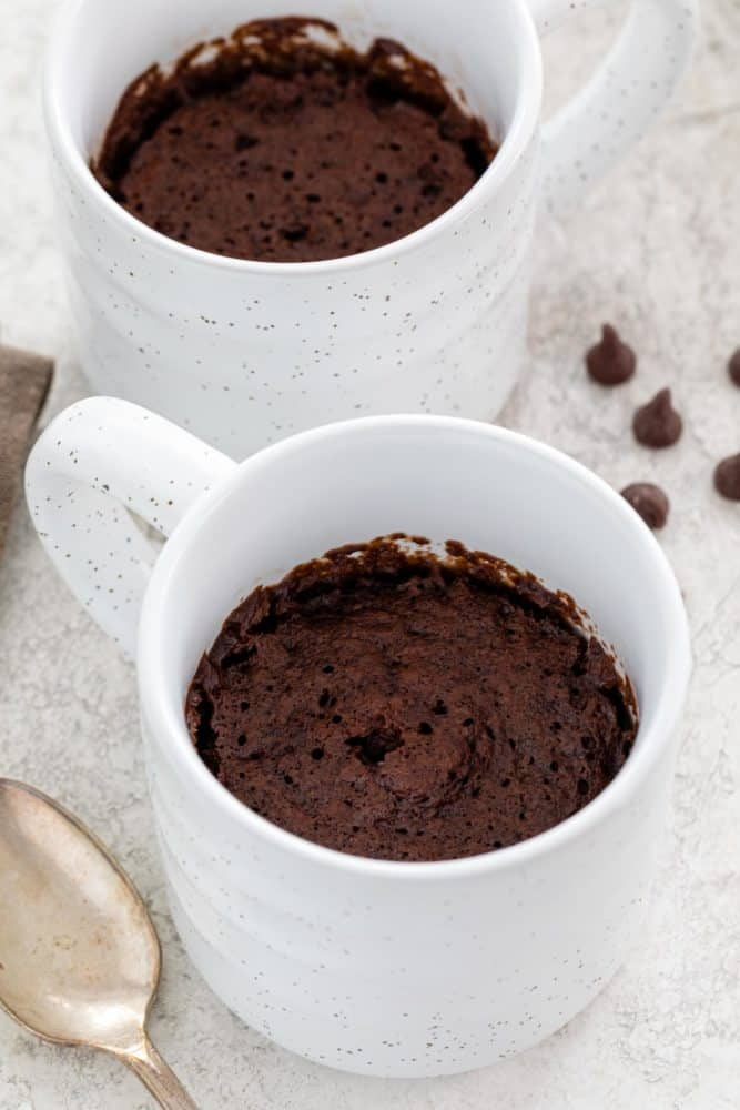 Chocolate cake in a coffee cup