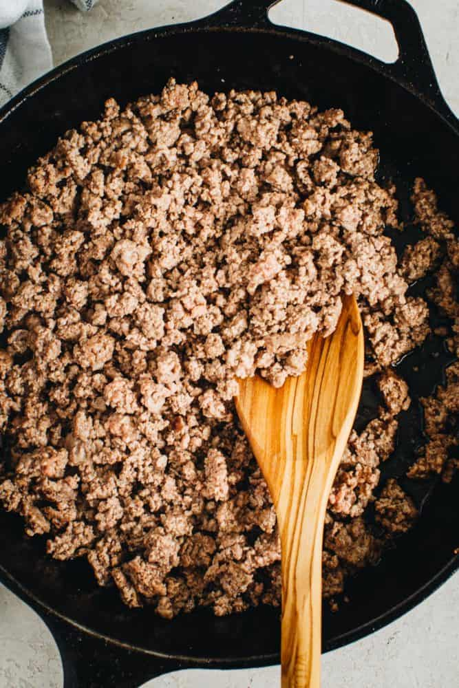 ground beef for sauce