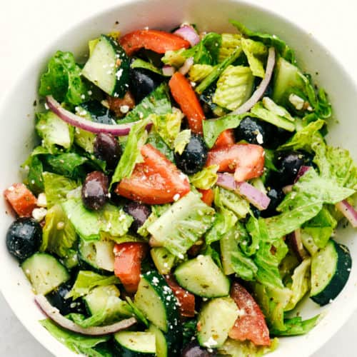 Greek Salad with the BEST Dressing | The Recipe Critic