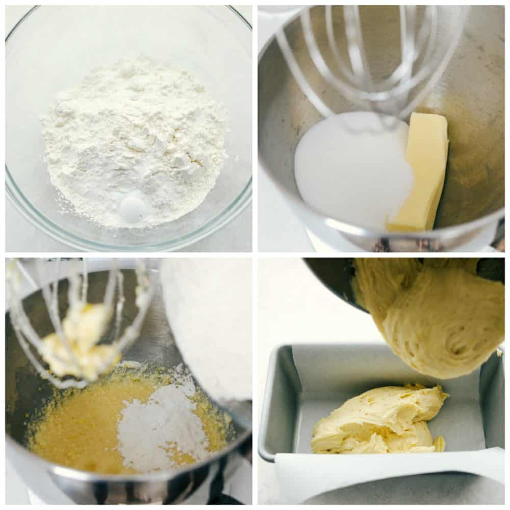 Steps to make lemon bread.