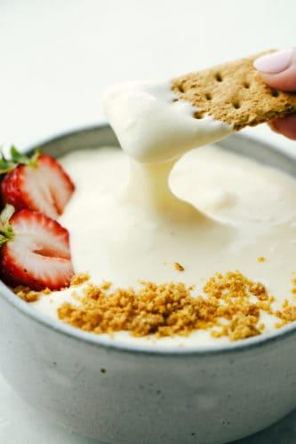 2 Ingredient Cheesecake Dip