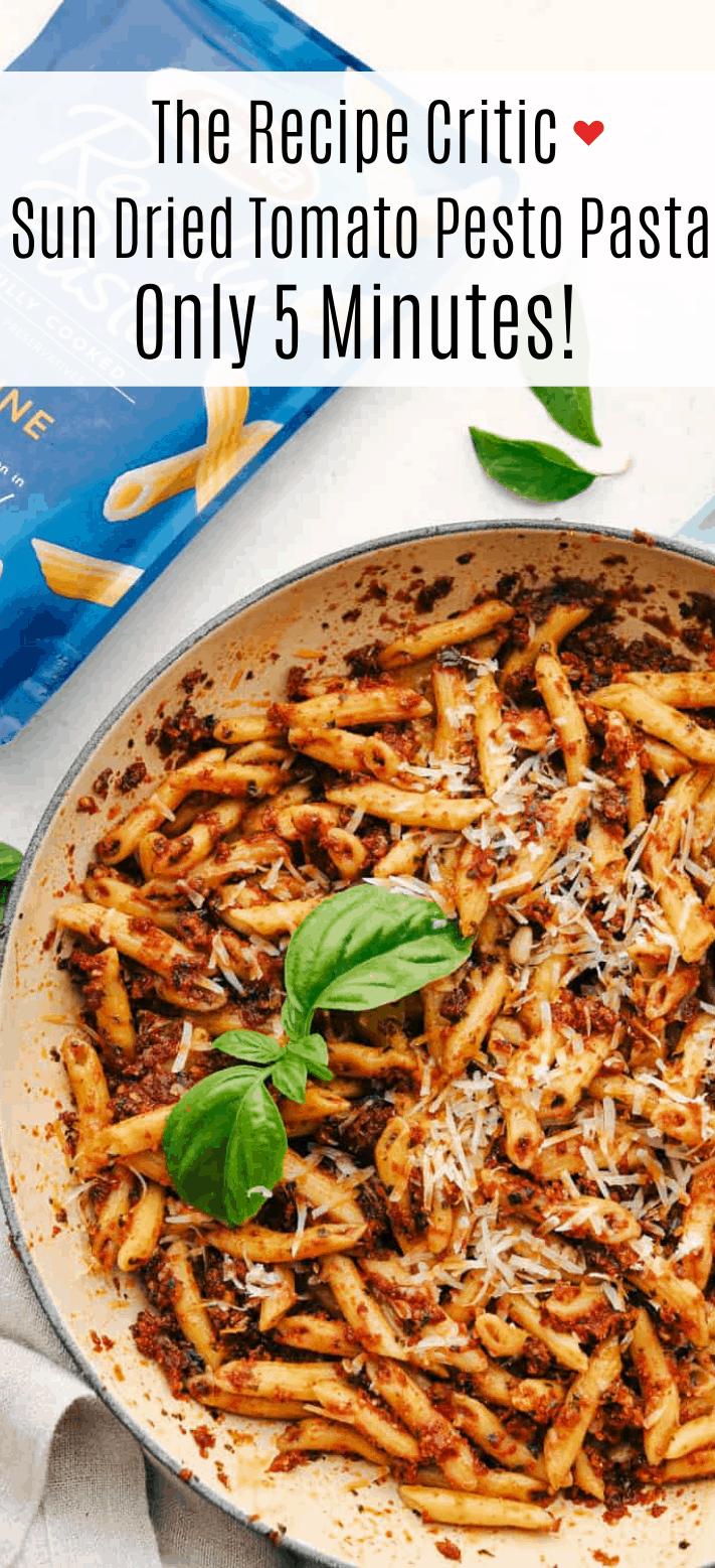 Massa Pesto de Tomate Seco ao Sol Rápido e Fácil 5 Minutos 2
