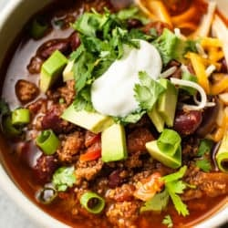close-up of Instant Pot chili