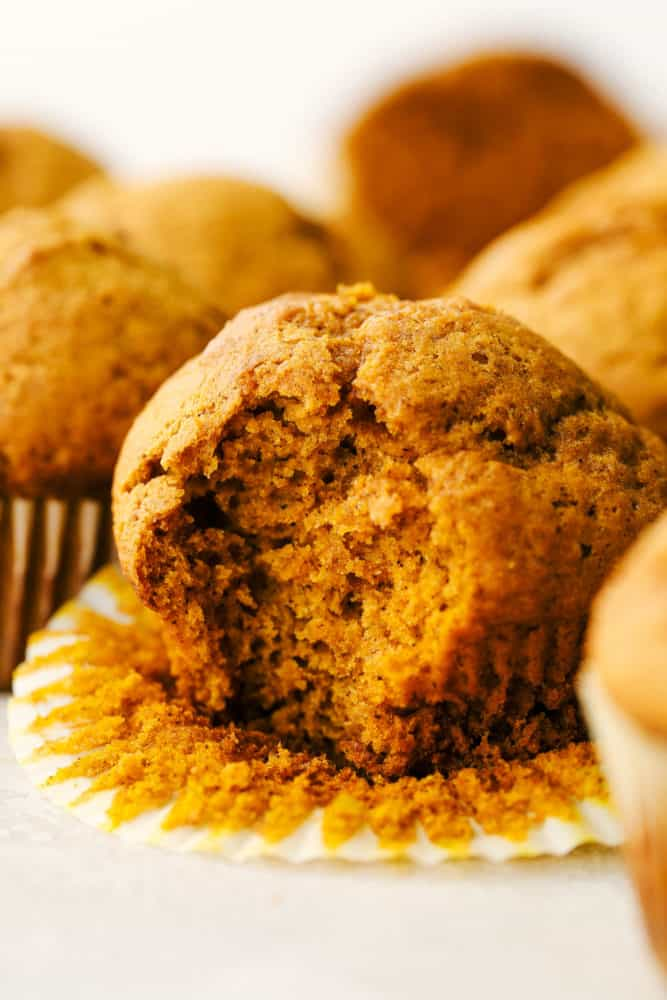 Fluffy, soft, moist perfect pumpkin muffins.