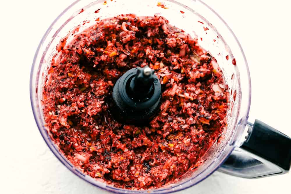 Blended Cranberry Relish.