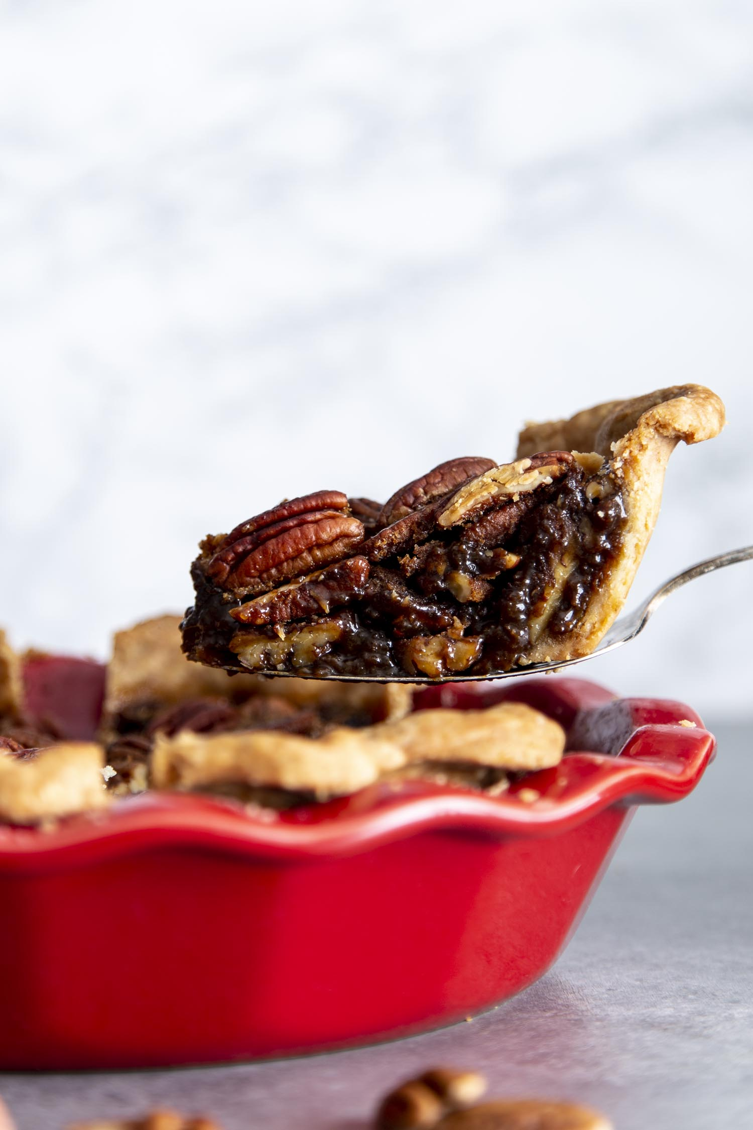 Rich, sweet decadent Pecan pie.