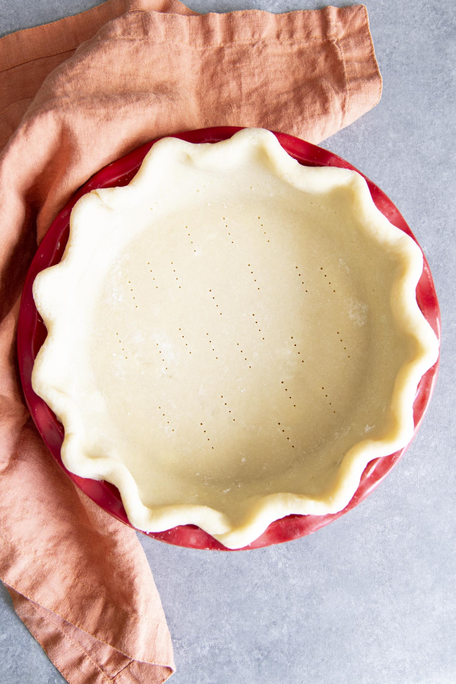 Preparing pie crust.
