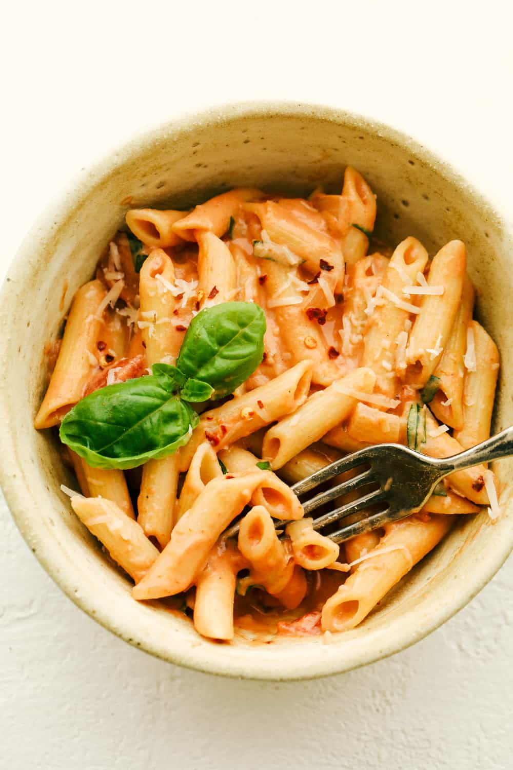 Creamy flavorful Penne Alla Vodka in a bowl.
