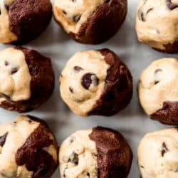 Brookies Cookies are a deliciously fun mashup of two of our favorite desserts: brownies and chocolate chip cookies! Soft and chewy with plenty of chocolate chips, these are always a hit with the family!
