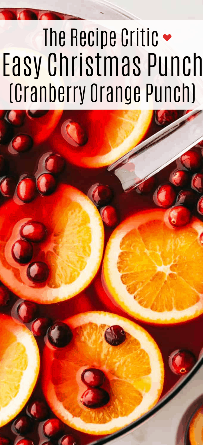 Easy Christmas Punch (Cranberry Orange Punch) | Cook & Hook