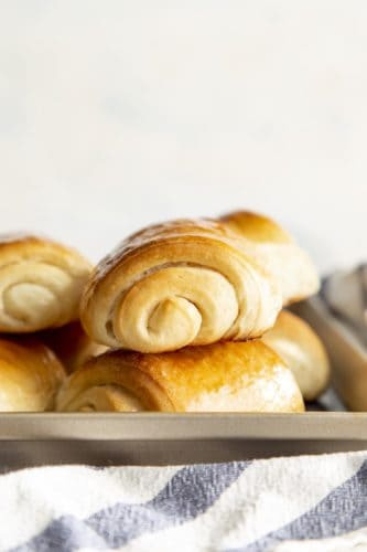Stack of 2 lion house rolls