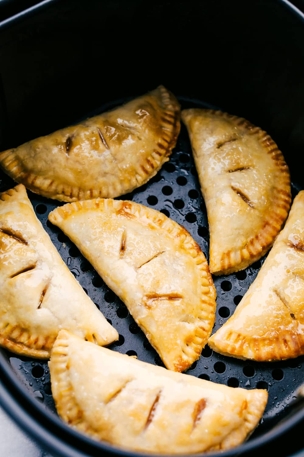 Hand held apple pies made in the air fryer.