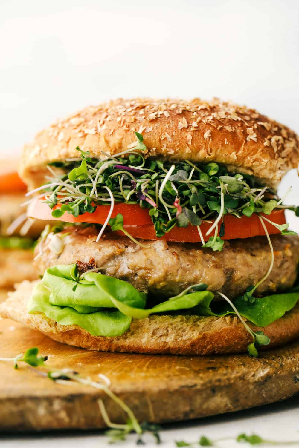 Juicy and flavorful air fryer turkey burgers.