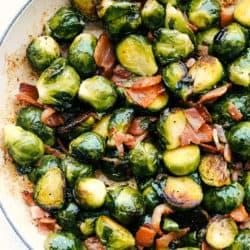 Couves de Bruxelas salteadas perfeitas com bacon 4