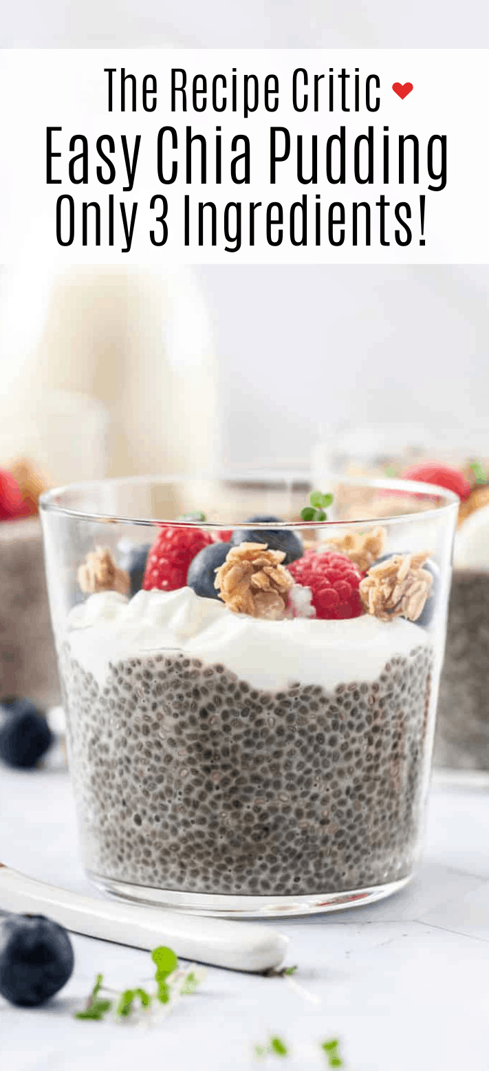 Easy Chia Pudding {Only 3 Ingredients} | Cook & Hook