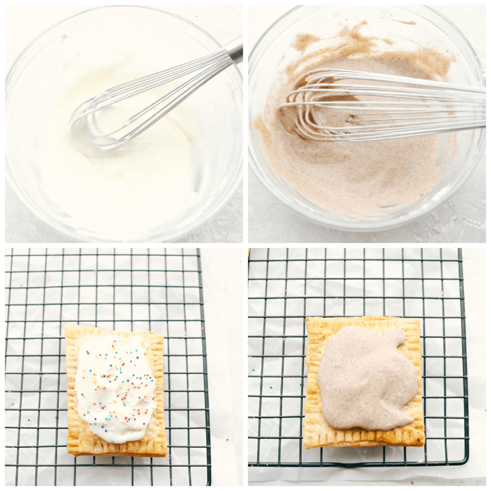 Making the frosting for homemade air fryer pop tarts.