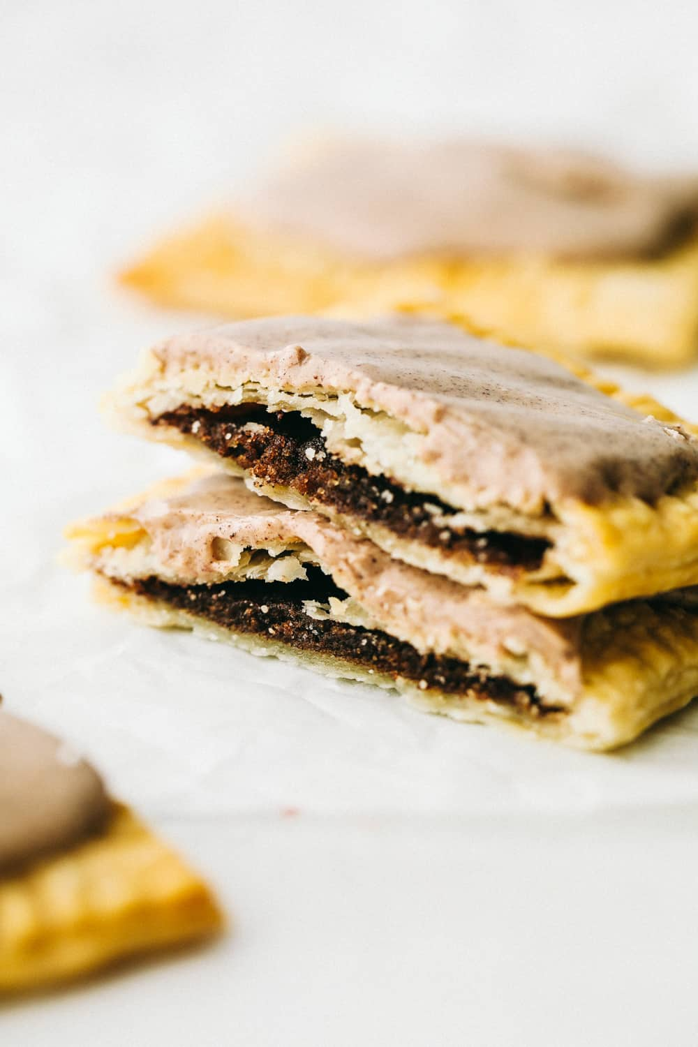 Frosted brown sugar pop tarts made in the air fryer.