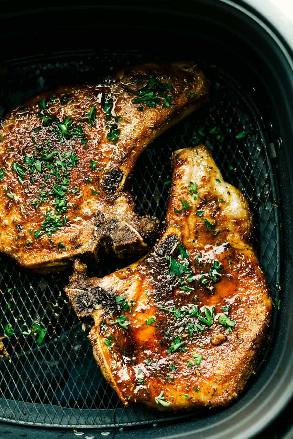 Juicy and flavorful Air Fryer Pork Chops.