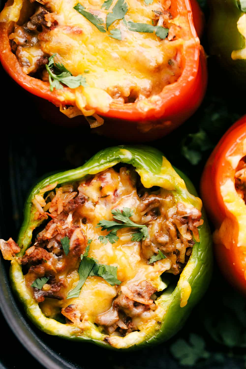 Air fried stuffed peppers.