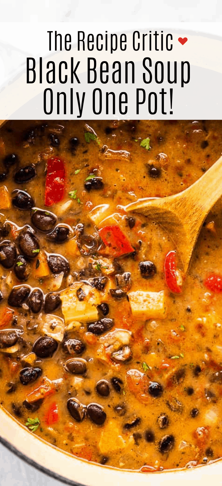 Easy Black Bean Soup {Only One Pot!} | Cook & Hook