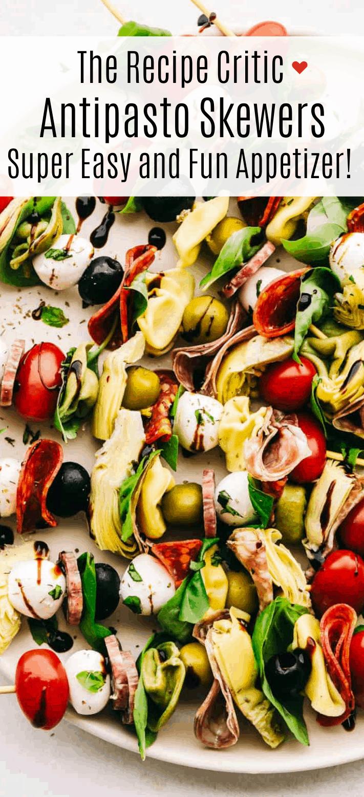 Easy Antipasto Skewers Appetizer | Cook And Hook | Cook & Hook