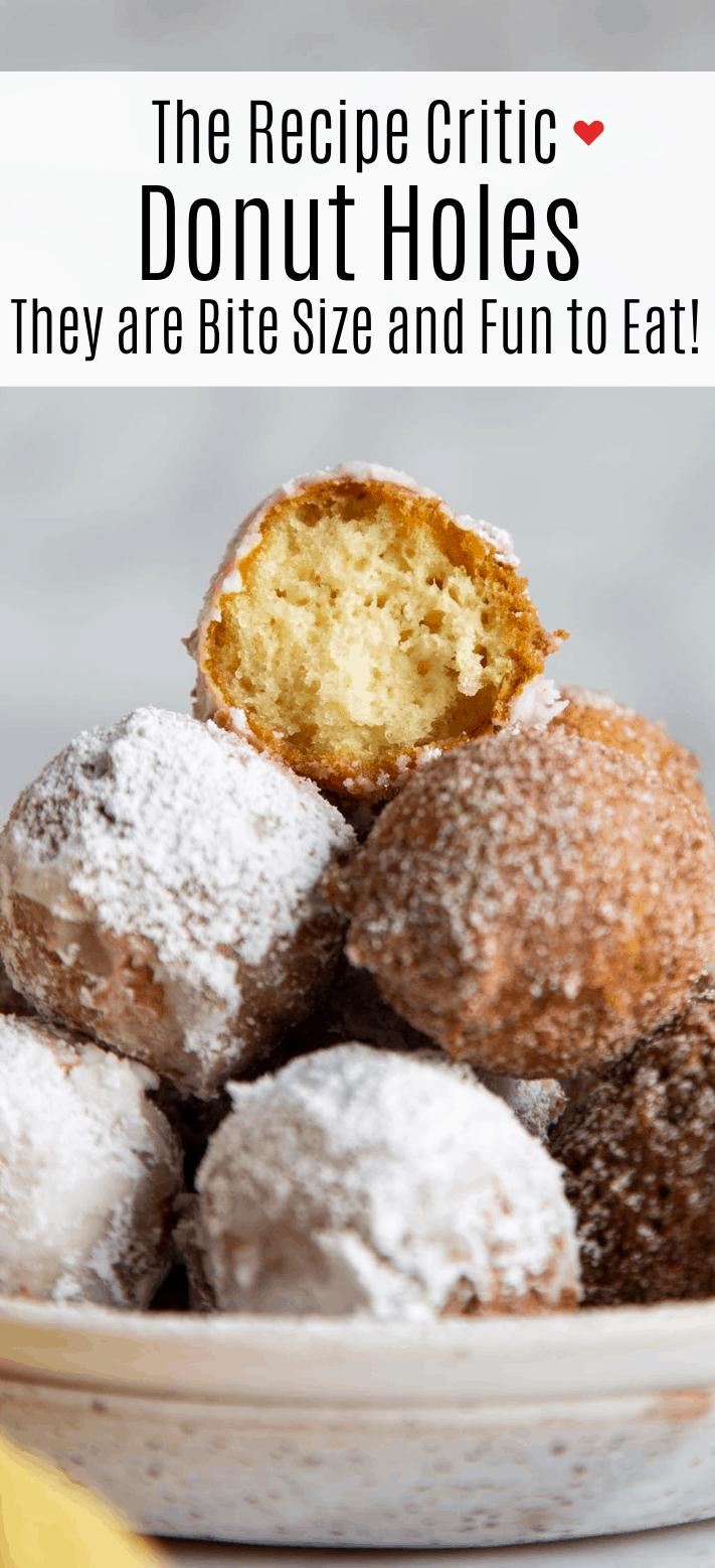 Easy Homemade Donut Holes | Cook & Hook