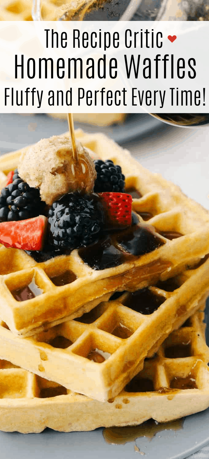 Fluffy and Perfect Homemade Waffles | Cook & Hook