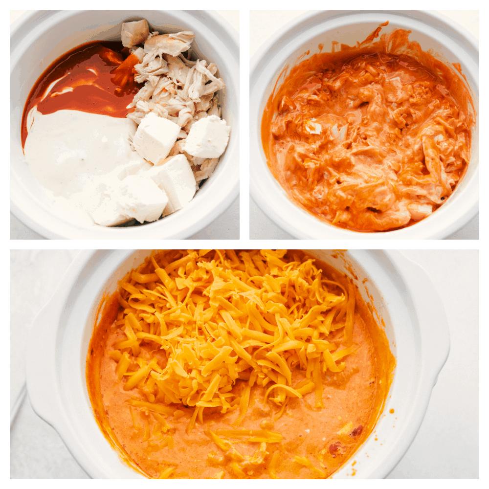 Masukkan bahan ke dalam panci masak kecil, setelah matang dan tambahkan keju.