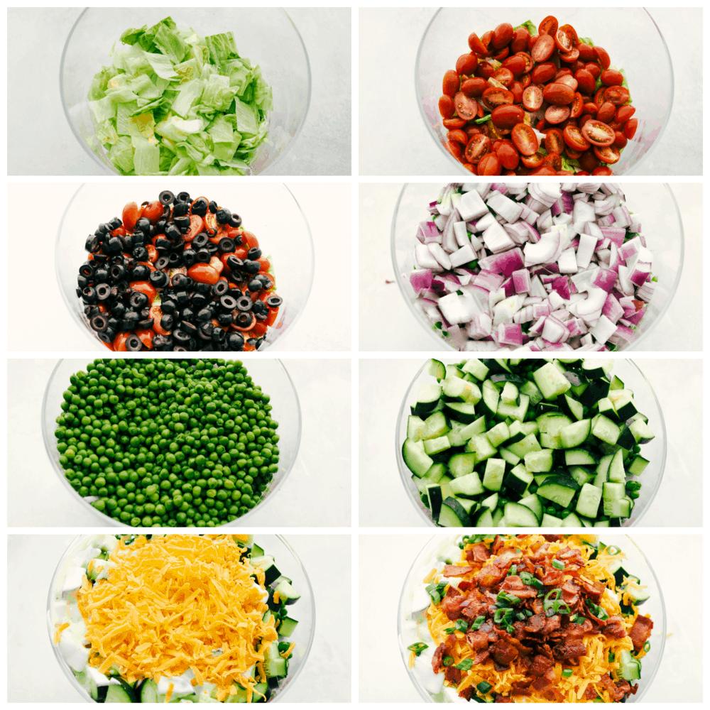 Cada capa de tu ensalada de 7 capas.