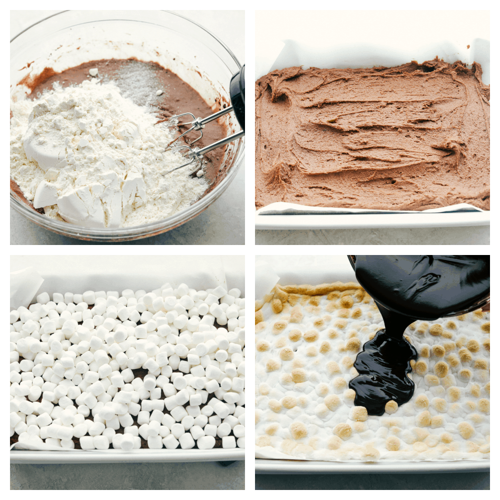 The process of making mudslide bars.