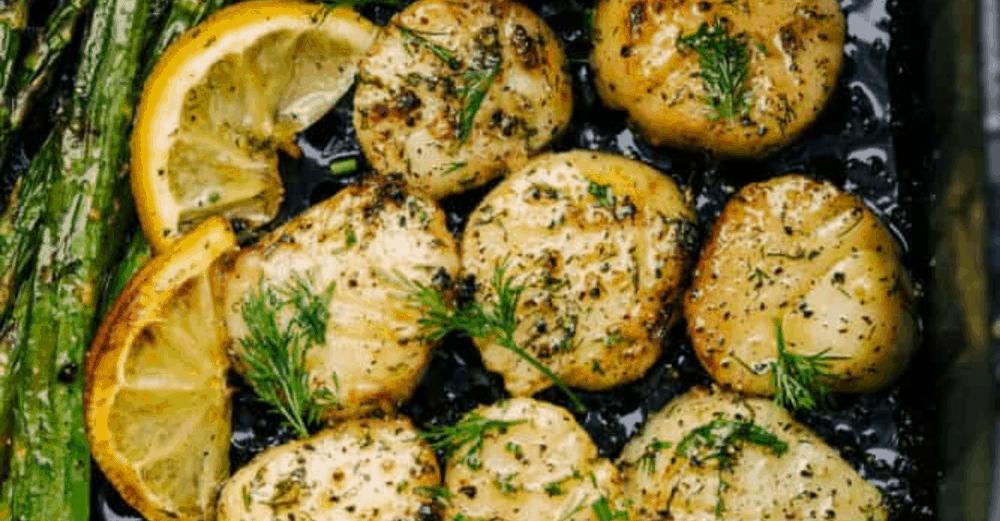 Air Fryer Lemon Dill Scallops
